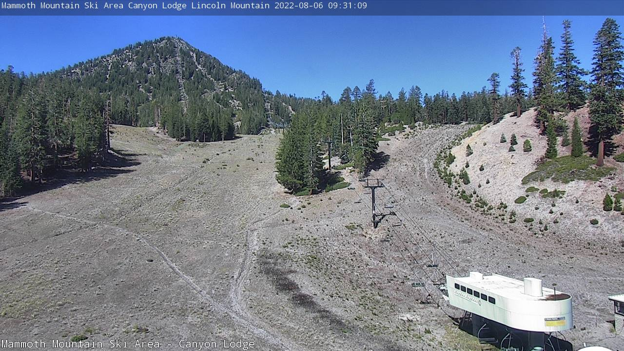Canyon Lodge Webcam at Mammoth Mountain